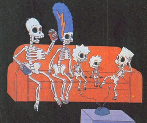 simpsons, the simpsons, and skeleton image