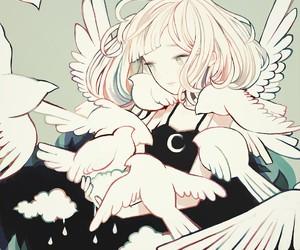 anime, bird, and art image