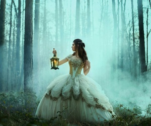 flowers, forest, and princess image