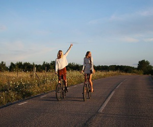 summer, bikes, and friendship image