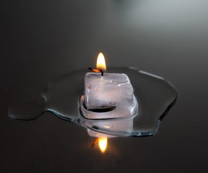 water candles ice cubes image