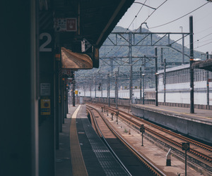 japan, train station, and train image