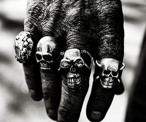 skull, hand, and rings image