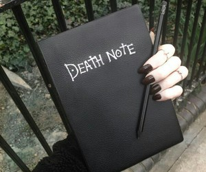 black, death note, and anime image