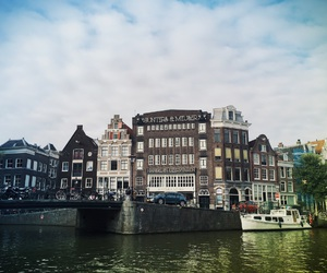 amsterdam, canal, and amstel image