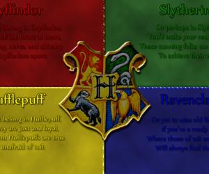 hogwarts, hufflepuff, and rawenclaw image