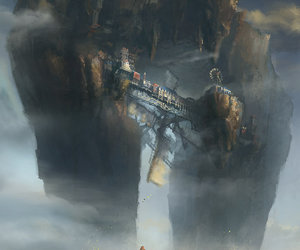 city, fantasy, and Flying image