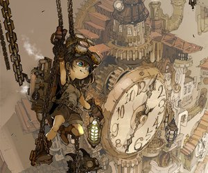city and steampunk image