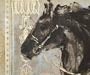 artist, horse, and black stallion image