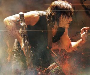 daryl dixon, norman reedus, and walking dead image
