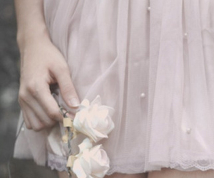 pink, flowers, and pale image
