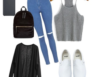 black, casual, and gray image