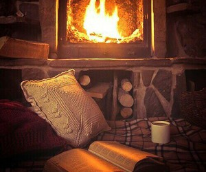 autumn, cozy, and flame image
