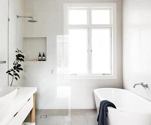 bathroom, bath, and shower image
