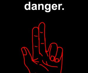 danger, stranger things, and red image