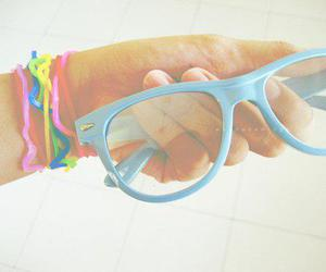 glasses, cute, and blue image