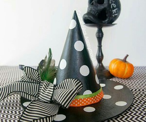 decorations, hat, and Halloween image