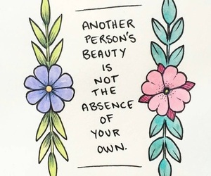 quotes, beauty, and flowers image
