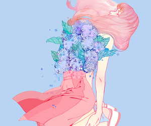 art, flowers, and anime image