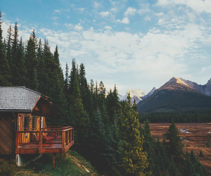 mountains, nature, and house image