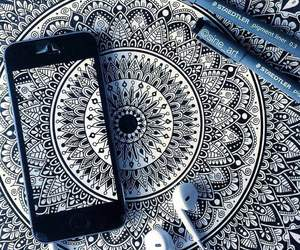 mandala, art, and black and white image