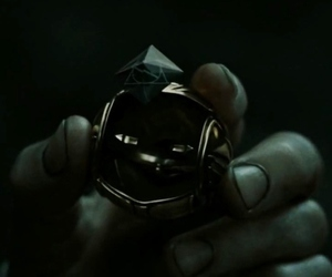 deathly hallows, harry potter, and the golden snitch image