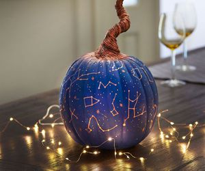 Halloween, pumpkin, and stars image