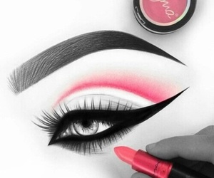 art, makeup, and beautiful image
