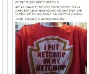 funny, ketchup, and lol image