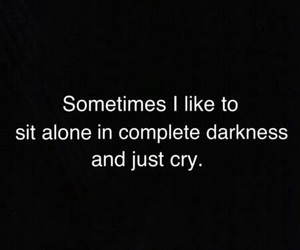 cry, Darkness, and alone image