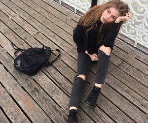 black, clothing, and girl image