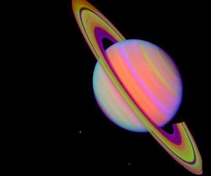 planet, saturn, and space image