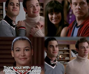 finn, funny, and glee image