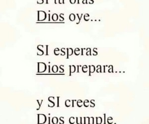 dios, cree, and cumple image