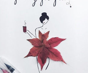 art, autumn, and calligraphy image
