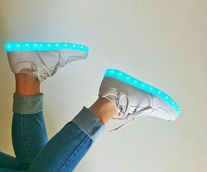 zapatos and led turquesa image
