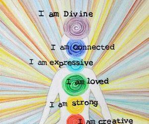 chakras, divine, and meditation image