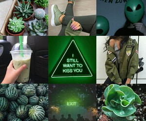 Collage, green, and plants image