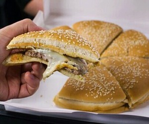 burger, food, and pizza image