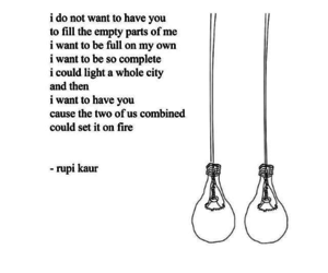 rupi kaur, milk and honey, and quotes image