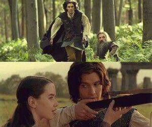 actor, anna popplewell, and ben barnes image