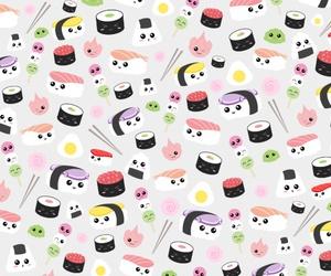 sushi, background, and food image