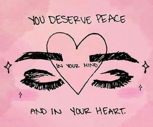 peace, eyes, and heart image