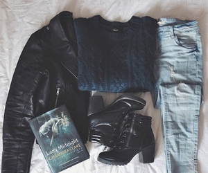 denim, jacket, and jeans image