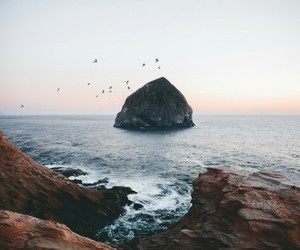 landscape, sea, and sunset image