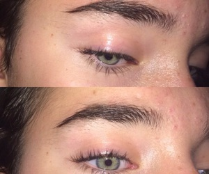 eyebrows, weird, and eyes image