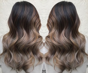 brown, dye, and hair image