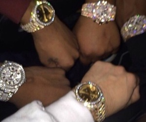 dope, gold, and rolex image