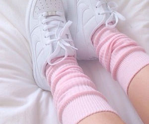 legs, white shoes, and white nike shoes image