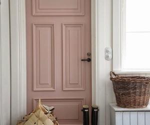 door, pink, and interior image